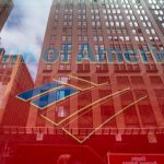BANK OF AMERICA's stock was upgraded to buy by UBS AG, bucking recent trends and recommendations on bank stock investment. / BLOOMBERG NEWS FILE PHOTO/RON ANTONELLI