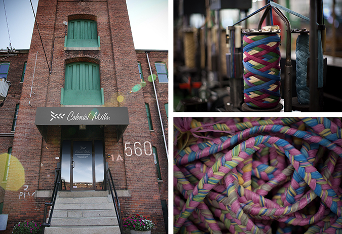 COLONIAL MILLS, a braided rug and accessory maker, will relocate from Pawtucket, the location shown above, to East Providence this year. / COURTESY COLONIAL MILLS