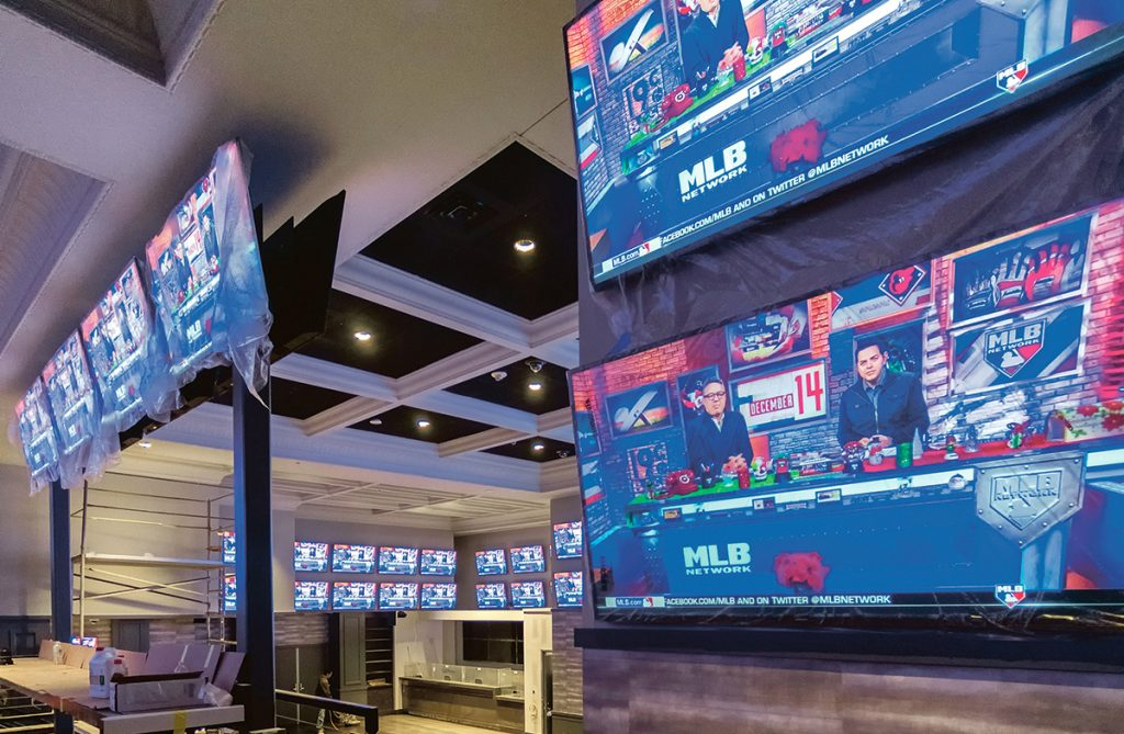 SPORTS BETTING: Pictured is the new sports-betting facilities at Twin River Casino Hotel in Lincoln. The expansion of sports betting to mobile options is expected to be introduced in the General Assembly this year. / PBN PHOTO/MICHAEL SALERNO