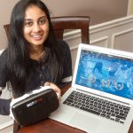 SPEECH PREP: Sree Dasari, a student at La Salle Academy in Providence, has started her own business. She is designing an app that uses virtual reality scenarios to help people work on their public-speaking skills.