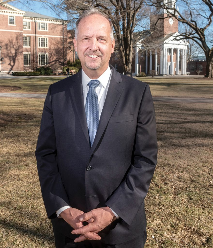 In addition to serving as the eighth president of Wheaton College, Dennis M. Hanno is the founder and CEO of IDEA4Africa, a nonprofit that mentors and incubates young entrepreneurs who are addressing community needs while building local businesses. / PBN PHOTO/MICHAEL SALERNO