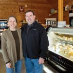 ONE-STOP SHOP: Bill and Diana Bothelo opened The Cheese Wheel in Tiverton in November. The shop sells packaged meats and cheeses, shown below.  