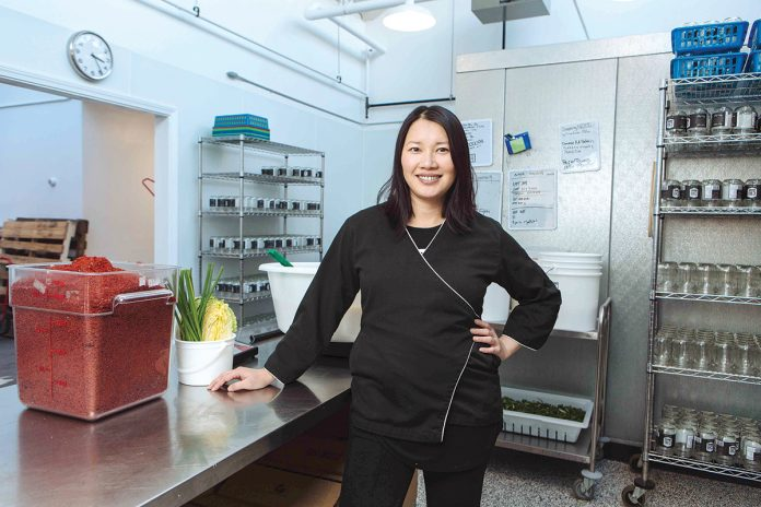 ON A MISSION: Minnie Luong, head of kimchi producer Chi Kitchen in Pawtucket, said it's her mission to educate people about the unique Korean dish made from salted and seasoned fermented vegetables. / PBN PHOTO/RUPERT WHITELEY