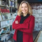 Kathleen A. Bartels is a Rhode Island native and co-owner of LLB Architects. The firm's headquarters is in the Design Exchange, a historic Pawtucket mill complex that LLB transformed into a creative business hub. / PBN PHOTO/RUPERT WHITELEY