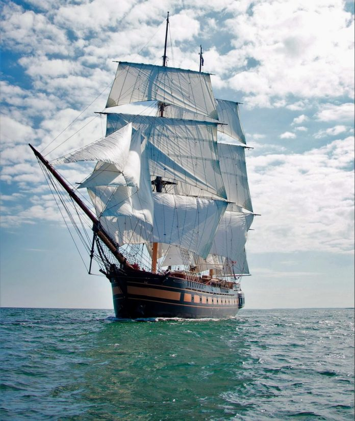 AFTER AN OPERATIONAL PAUSE and consideration of sale of the tall ship, the nonprofit that owns the SSV Oliver Hazard Perry says it will now remain in Rhode Island with a new operating model and a new CEO and staff. / COURTESY OLIVER HAZARD PERRY RHODE ISLAND