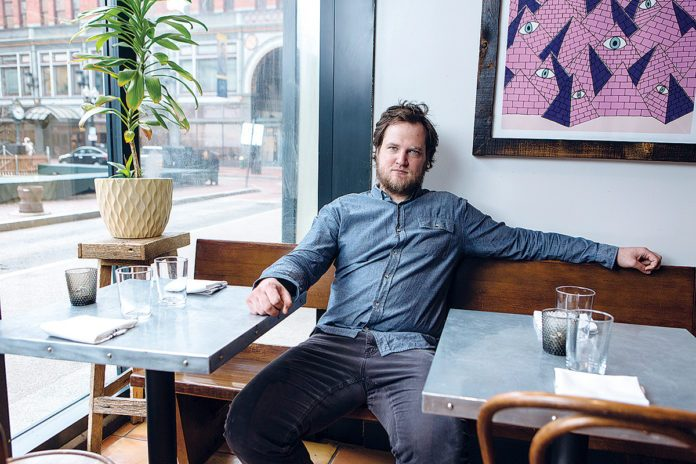 BEN SUKLE, chef and proprietor with his wife Heidi of Oberlin and birch restaurants in Providence, is a semifinalist for Best Chef-Northeast in the 2019 James Beard Awards. / PBN FILE PHOTO/RUPERT WHITELEY