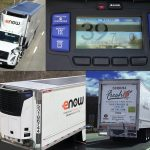 HEAVY DUTY TRUCKING has named eNow's solar-electric refrigeration system for tractor trailers one of its top products of the year. / COURTESY ENOW