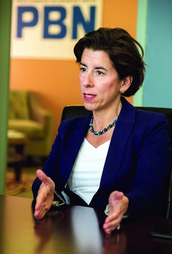 GOV. GINA M. RAIMONDO has renewed the state's contract with Deloitte Consulting through June 2021. The deal includes a $50 million payment from Deloitte, discounted services and includes an agreement for the state not to sue Deloitte for past performance. / PBN FILE PHOTO/MICHAEL SALERNO