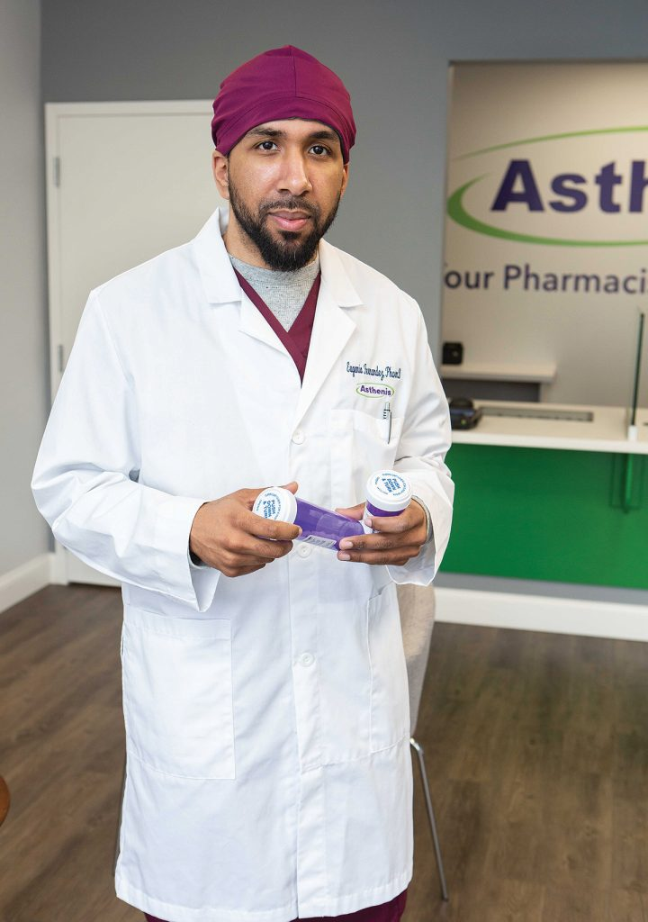 FINDING A NICHE: Eugenio ­Fernandez Jr. grew up in Providence's West End and is now giving back through his independent pharmacy that serves a large Spanishspeaking population.