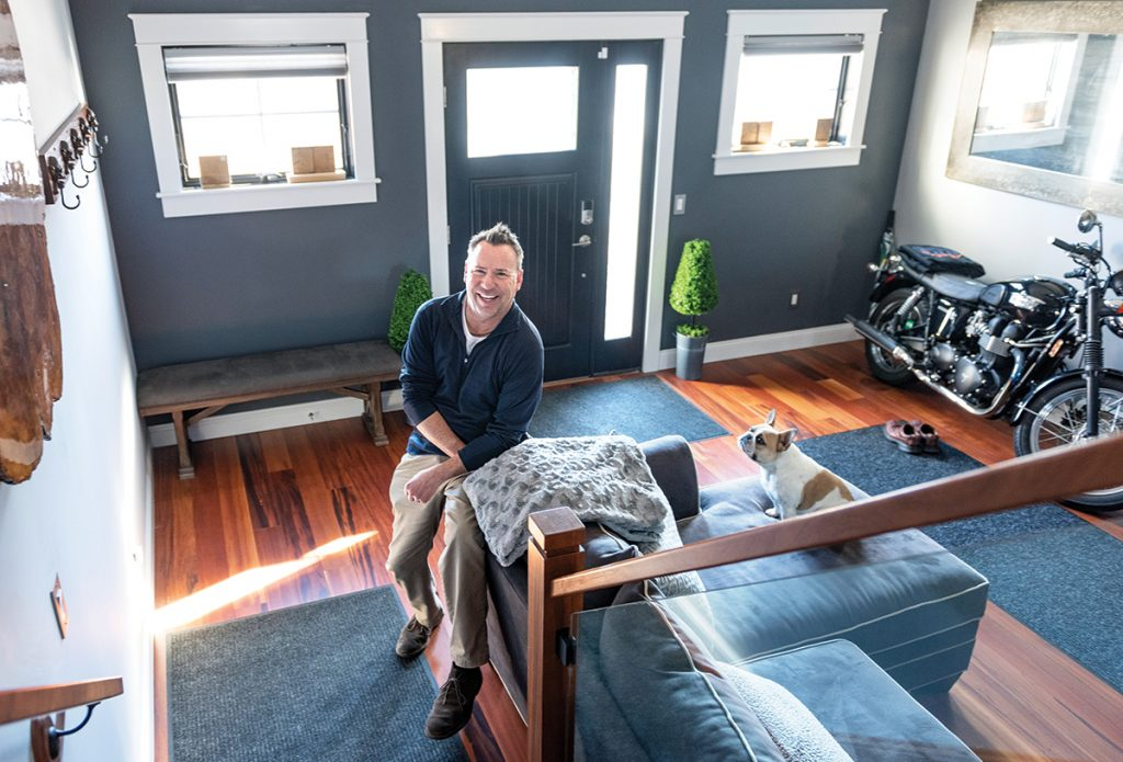 UP TO CODE: Frank Silvia had to hire an electrician to install emergency exit lights at his Newport home to comply with fire-code requirements so he could post his home on Airbnb, which he does from May through November.  / PBN PHOTO/DAVE HANSEN