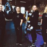 PERSONAL TRAINING: From left, Kathy Lyons, Amy Cham, Jaime Hayes and Tracy Lombard opened On the Ropes Boxing and Fitness in January in a former garage building at Pontiac Mills in Warwick, where they offer drop-in classes, regular classes and personalized fitness.