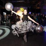 A DANCER FROM the Festival Ballet Providence School finishes a performance at last year's inaugural DesignxRI Designer's Ball. This year's event features a similar performance as part of a design and creative takeover of the Waterfire Arts Center on April 6. / COURTESY DESIGNXRI