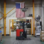 UNITED STATES nonfarm business employee output per hour increased at a 1.9 percent annualized rate in the fourth quarter. / BLOOMBERG NEWS FILE PHOTO/LUKE SHARRETT