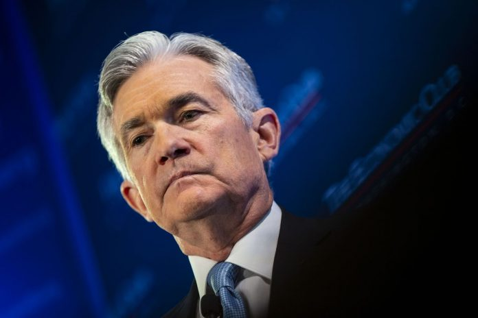 FEDERAL RESERVE officials scaled back their projected interest-rate increases this year to zero and said they would end the drawdown of central bank bond holdings in September. Above, Fed Chair Jerome Powell. / BLOOMBERG NEWS FILE PHOTO/AL DRAGO