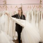 """NEW OWNER: Kayla Thompson is the owner of Melissa Ashley Brides in Westerly. Thompson bought her wedding dress at the bridal shop seven years ago and befriended the former owner, Denise Pellegrino, who later hired Thompson. The pair came to a """"personal finance agreement"""" that transitioned ownership to Thompson when Pellegrino was ready to sell. / PBN PHOTO/DAVE HANSEN"""