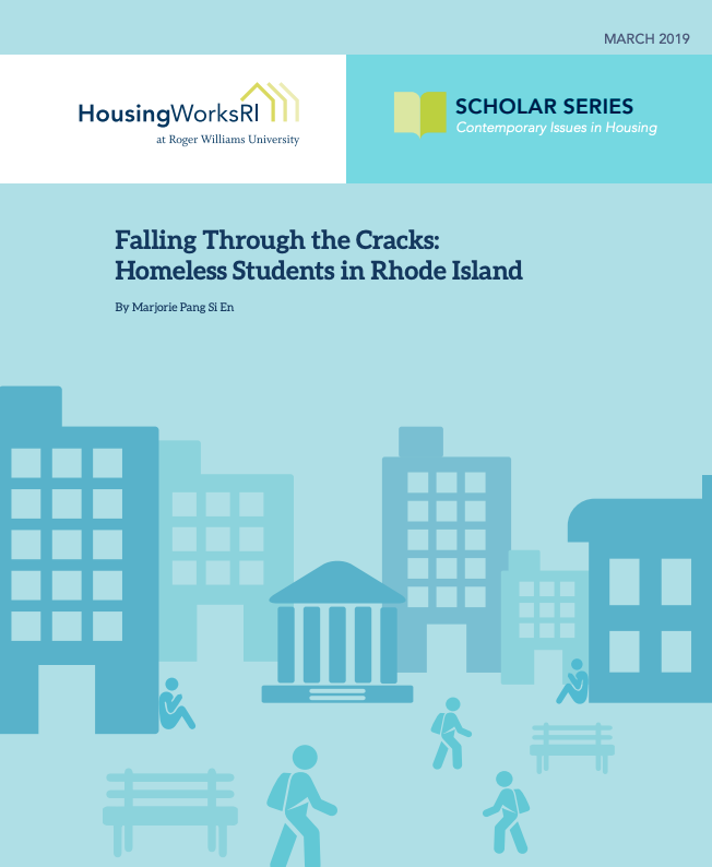 A NEW REPORT indicates Rhode Island students who are homeless are being undercounted. / COURTESY HOUSINGWORKS RI AT ROGER WILLIAMS UNIVERSITY