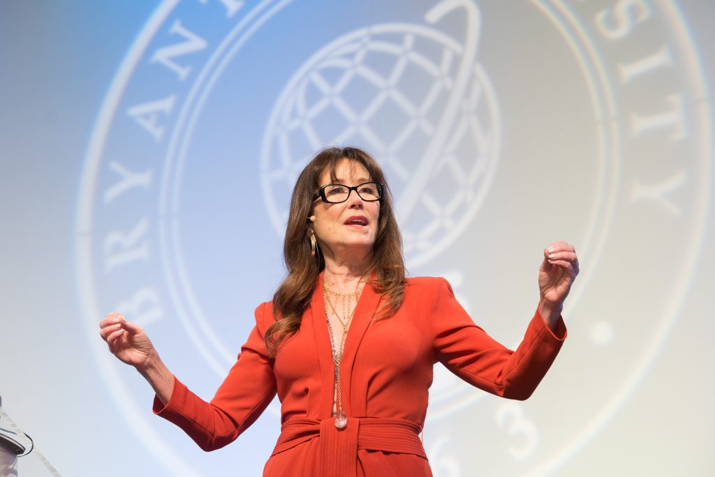 ACTRESS MARY MCDONNELL was the lunch speaker at the 22nd Bryant Women's Summit on March 15. / COURTESY BRYANT UNIVERSITY