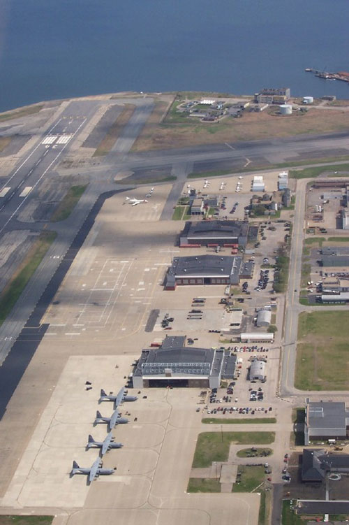 THE R.I. AIRPORT CORP. announced that it will initiate a strategic business and master planning process for all five general aviation airports int he state. Above, Quonset State Airport. / COURTESY R.I. AIRPORT CORP.