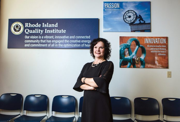 LENDING AN EAR: Michelle Dexter, Rhode Island Quality Institute senior director of human resources, invites all sorts of feedback from co-workers in her constant effort to improve the workplace culture. 