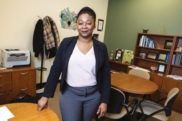 A GIVING PERSON: Angela Bannerman Ankoma, executive vice president and director of community investment for United Way of Rhode Island, oversees millions of dollars in grants to programs and organizations annually.