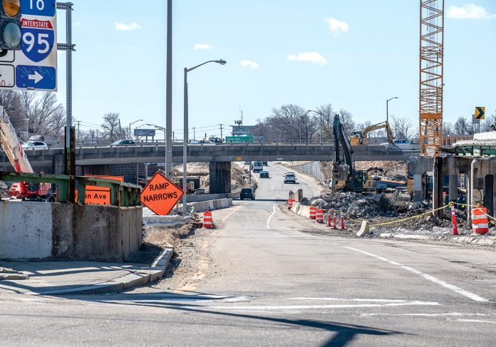 RECONSTRUCTION: The 6-10 connector is a series of nine bridges, seven of which are structurally deficient. Reconstruction began six months ago, and the work is now in the demolition phase. The total project cost is $410 million.