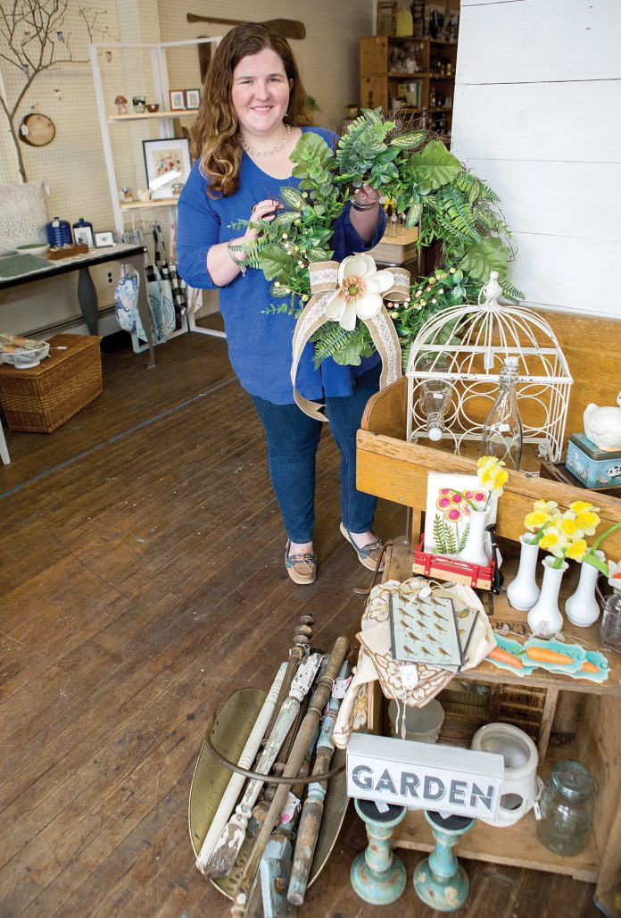 MEETING DEMAND: Kate Simpson is the owner of Shades of Vintage, a former monthly marketplace she operated within her artisan shop Cerulean in Warren that is now its own business.