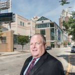 GROWING SUCCESS: James ­McCarvill, director of the Rhode Island Convention Center Authority, stands in front of the Dunkin' Donuts Center in Providence in 2016. McCarvill said this year will be better than 2018 for the convention center authority, and he projects 2020 will be even better than previous years.