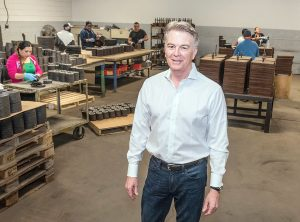 CONCERNED: Craig Pickell, president and CEO of grinder and abrasives maker Bullard and chairman of the Rhode Island Manufacturers Association, said RIMA is concerned about THC-laced candies and other edibles that would be available under Gov. Gina M. Raimondo's proposal to legalize recreational marijuana use. 