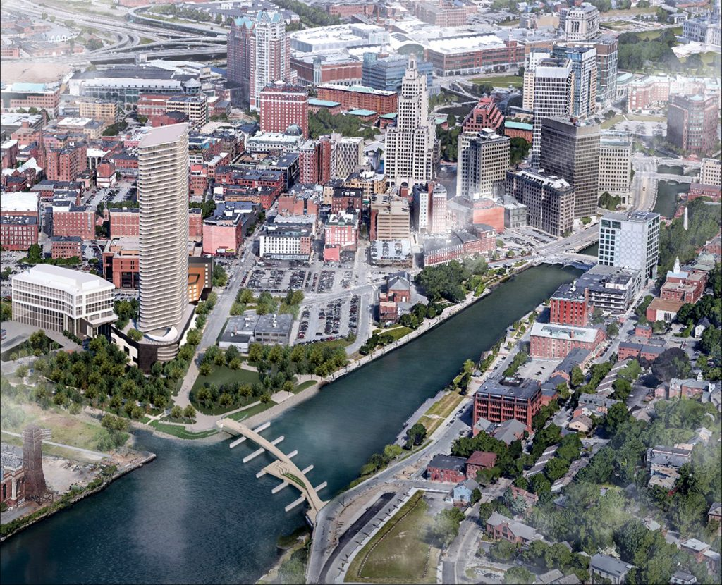 A MARKET PLAY? The condominiums in Hope Point tower will demand a high price. Will Providence be able to support it? / COURTESY THE FANE ORGANIZATION