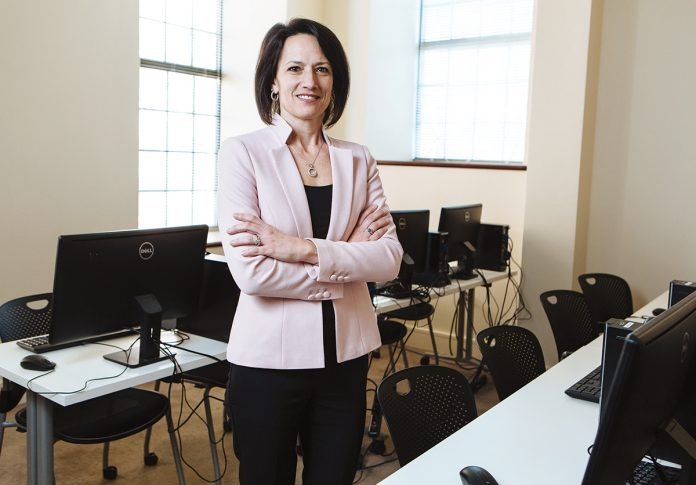 CHANGE OF DIRECTION: After 30 years performing information technology duties in other sectors, Lisa Blackmon leaped into the health care industry and is now chief information officer at Brown Physicians.  / PBN PHOTO/RUPERT WHITELEY