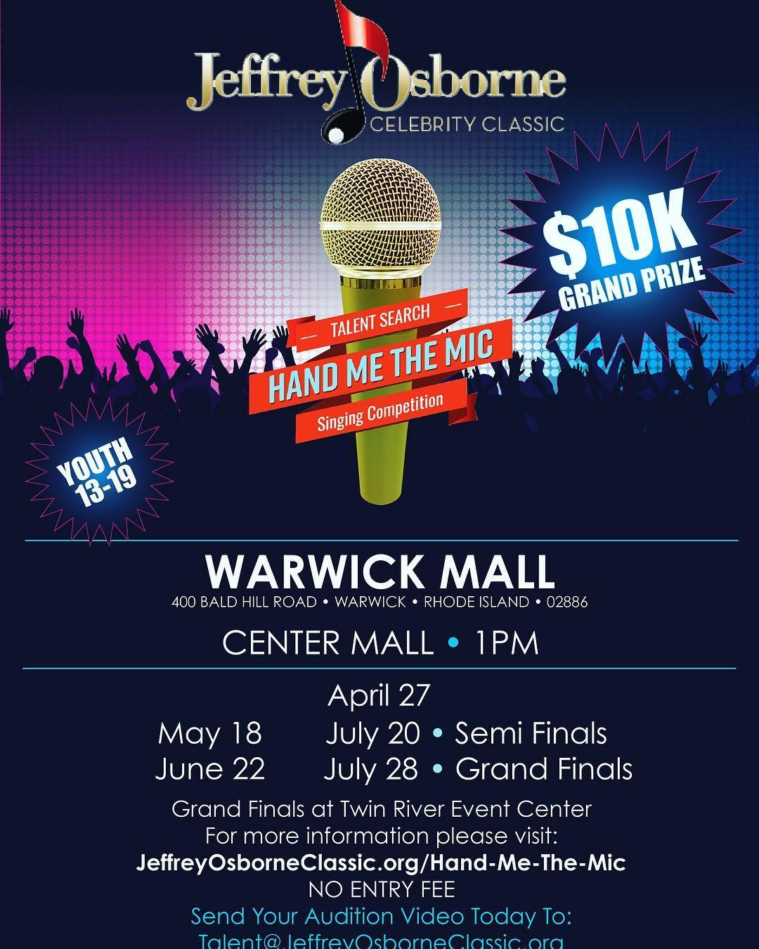 'Hand Me the Mic' Singing Competition Coming to Warwick