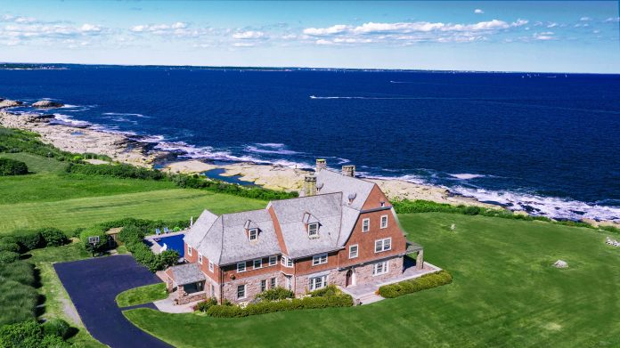 Stone Lea, an estate in Narragansett designed by the famed architects McKim, Mead & White, has sold for $4.5 million./COURTESY LILA DELMAN REAL ESTATE