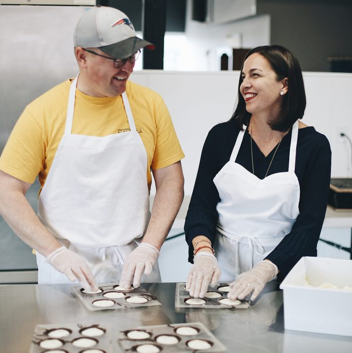 SWEET OPERATION: Kevin and Danielle Anderson opened Seacoast Sweets, a small chocolates-manufacturing and sales operation in Pawtucket, in September after purchasing the company and moving it from Newburyport, Mass.
