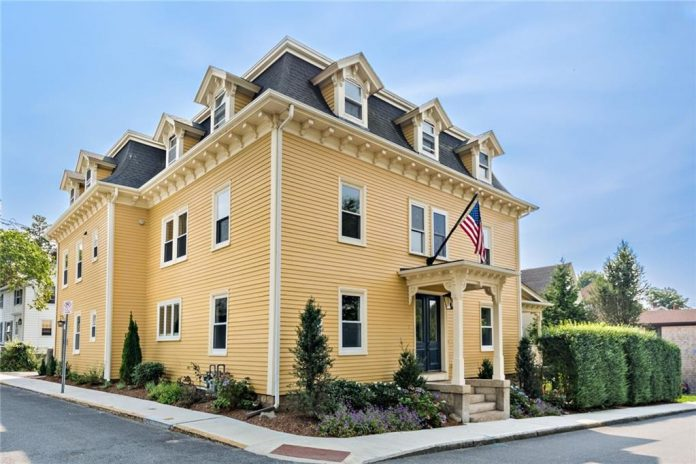 THE PROPERTY AT 7 Bowery St. in Newport was sold for $1.5 million. It features a third-floor apartment with separate private access. / COURTESY MOTT & CHACE SOTHEBY'S INTERNATIONAL REALTY