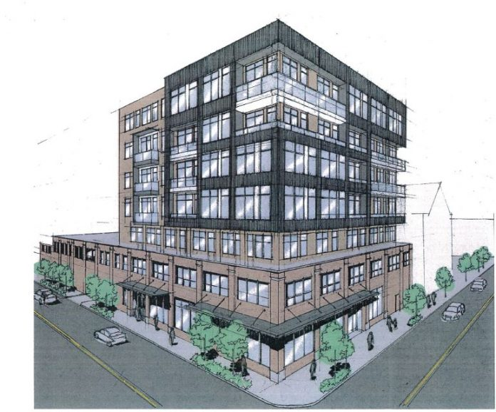 A RENDERING of a proposed apartment building at 210 West Exchange St. in Providence by ZDS Architectural Design. / COURTESY CITY OF PROVIDENCE