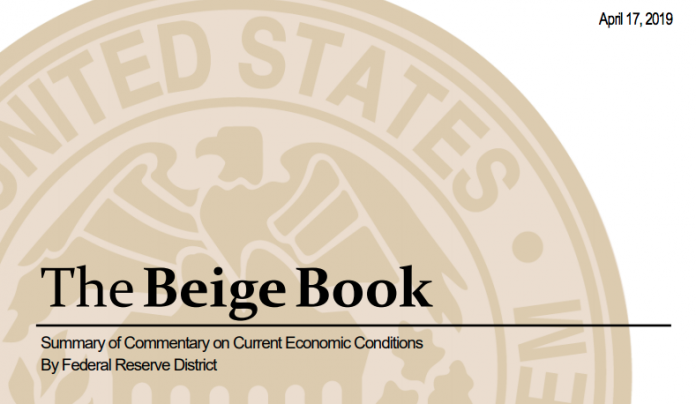 THE FEDERAL RESERVE Beige Book reported moderate economic growth in New England in March and early April. / COURTESY FEDERAL RESERVE