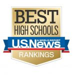 TWO OF RHODE ISLAND's 56 public high schools made the top 200 list nationally in the U.S. News & World Report's 2019 Best High Schools. / COURTESY U.S. NEWS & WORLD REPORT