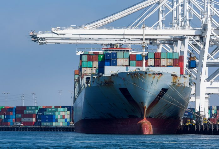 THE U.S.TRADE deficit in goods and services declined to $49.4 billion in February. / BLOOMBERG NEWS FILE PHOTO/TIM RUE