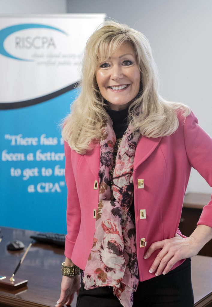 STRONG LEADER: Melissa D. Travis is the new president of the Rhode Island Society of Certified Public Accountants and the first woman to hold the position since the organization's formation in 1905.   