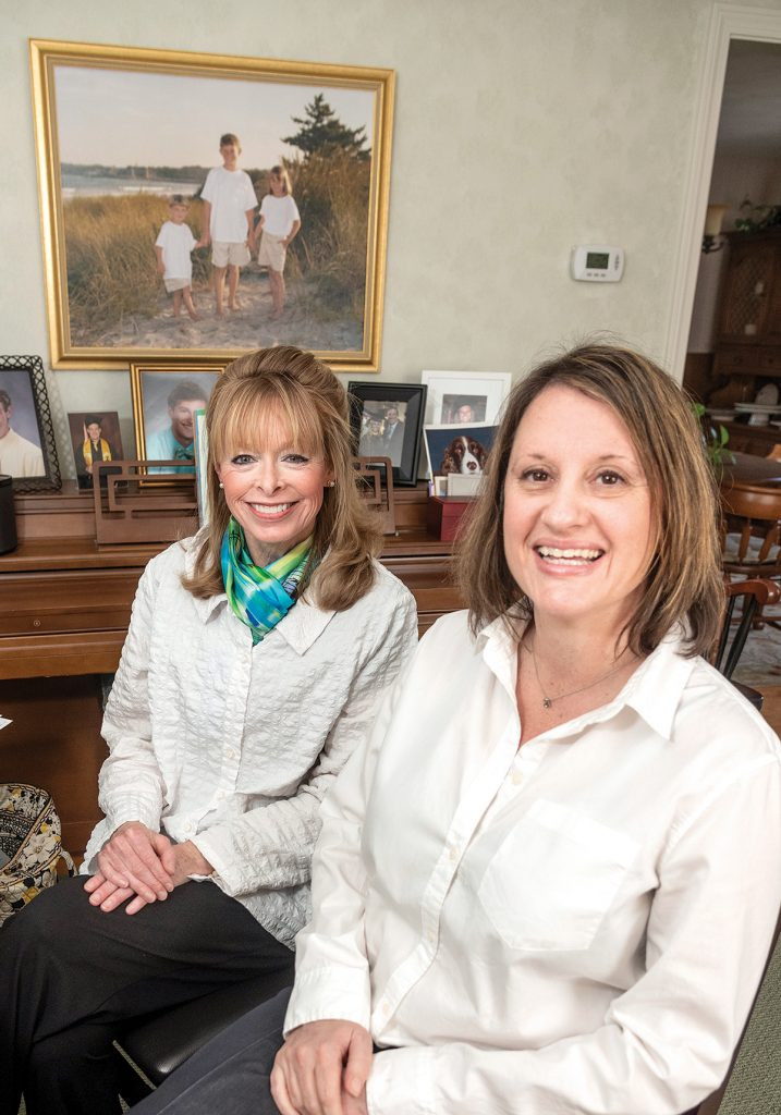 HELPING STUDENTS: After working for 33 years in admissions and financial aid at the University of Rhode Island, Diane DelGreco, left, created Smart Choice College Counseling in North Kingstown to help students get into the college of their choice. At right is La Salle Academy college counselor Anne Clawson, one of her assistants.