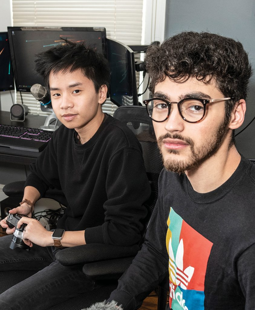 FILMMAKER FRIENDS: Classical High School classmates Robert McMahon, left, 19, and Xander Monge, 18, started film and production company Deft in the last year and have already won contracts for producing ads and short videos.  