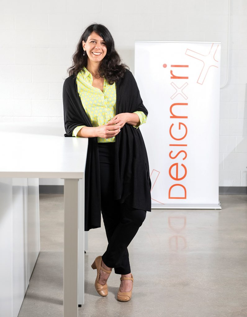 Lisa Carnevale has been an integral part of the Providence art scene for years. Her latest project, DesignxRI, was built to support and connect designers to each other and to work. And with its yearly Design Week RI, the group accomplishes just that. / PBN PHOTO/DAVE HANSEN