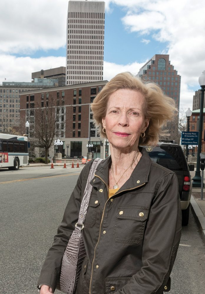 SPEAKING OUT: Connie Donnelly, an organizer of Concerned Citizens of Capital Center, wants all citizens to be heard on Providence mass-transit plans. / PBN PHOTO/MICHAEL SALERNO