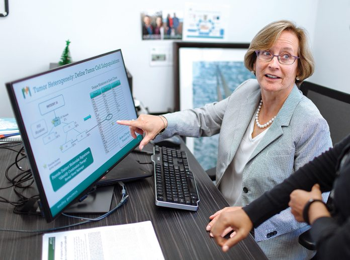 IMPROVED INDUSTRY: Patrice Milos, president and CEO of Medley Genomics in Providence, says she's seen improvement in the number of industry women in science with Ph.D.s. / PBN FILE PHOTO/RUPERT WHITELEY
