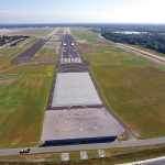 RIAC RECEIVED a $30 million federal Airport Improvement Grant to improve and rehabilitate runways and taxiways at T.F. Green Airport. / COURTESY R.I. AIRPORT CORP.