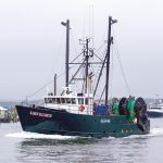 COMMERCIAL FISHING BOAT OPERATORS in Massachusetts are arguing that offshore wind energy projects are being planned without due consideration of their impact on marine life and fishing grounds. Massachusetts fishermen currently are trying to reach a compensation agreement with offshore wind company Vineyard Wind. / PBN FILE PHOTO/JOHN LEE