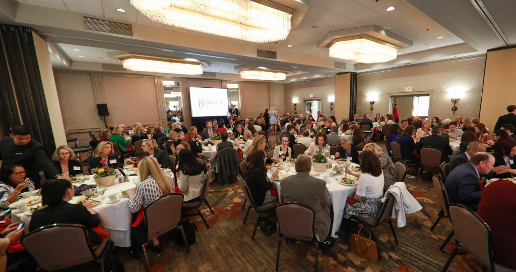 A CROWN OF 300 attended the 2019 PBN Business Women Awards program Thursday at the Providence Marriott. / PBN PHOTO/PAMELA BHATIA