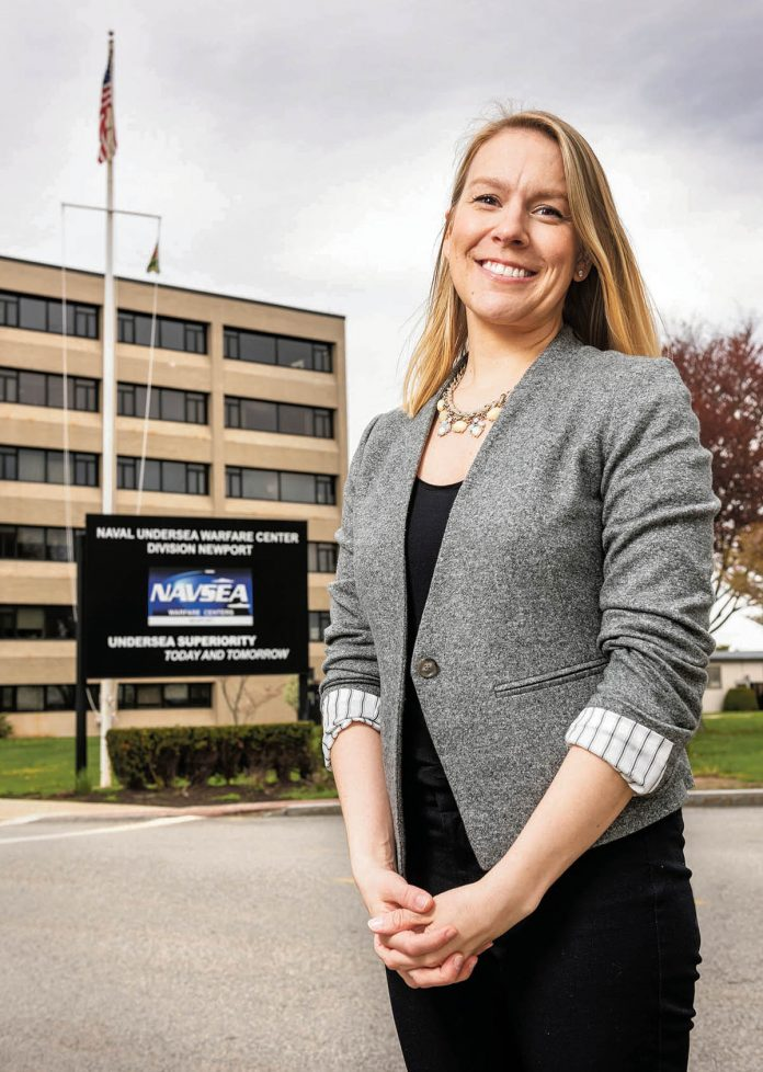 FULL SPEED AHEAD: Catherine Anders, head supervisory human resources specialist at the Naval Undersea Warfare Center Division Newport, has been busy in recent years. The division has hired about 350 people in each of the last three years, and the pace isn't slowing.