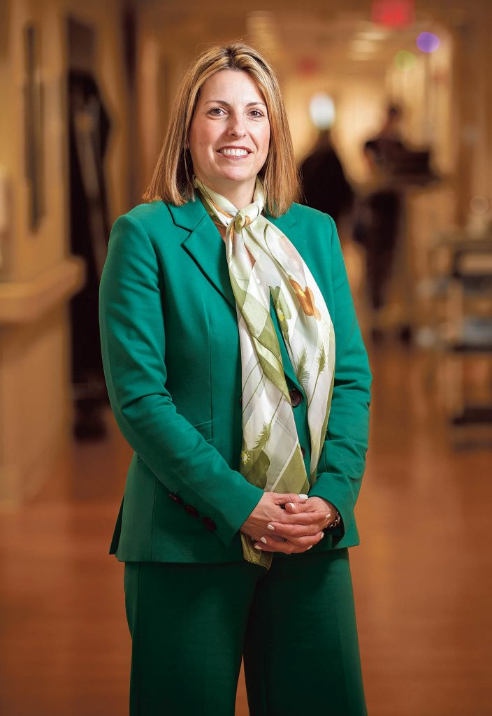 HEALTH CONSCIOUS: Crista F. Durand, Newport Hospital president, has breathed new life into the facility since taking over in 2014, from beefing up community outreach to recruiting new doctors.  / PBN PHOTO/ DAVE HANSEN
