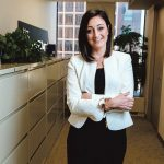 SPECIAL NICHE: Ashley Abbate Macksoud, a Merrill Lynch vice president and wealth management adviser, caters to women who suddenly are going it alone because of a divorce or the death of a spouse. / PBN PHOTO/RUPERT WHITELEY